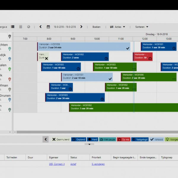 Planbord Connect-It 365 Fieldservice